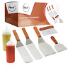 Hibachi Grill Accessories Stainless Steel BBQ Grilling Tool Set Griddle Spatula