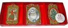 Pooch & Sweetheart 12 3-D Christmas Gift Tags Santa Owl Tree 84766 Punch Studio