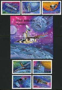 Tanzanie 1319-1326,Mnh.space Sondes,Satellites.voyager,Magellan,Galilei Avec