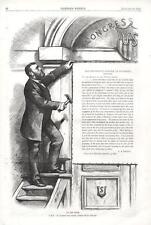 President Grant's Letter to Congress on Louisiana Affairs  - Thomas Nast -1875