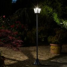 Victorian Solar Lamp Post Lantern Lighting Bright Head Garden Path Light Outdoor