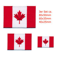 3 Canada Drapeaux Canada Flags Ottawa Alberta patch écusson Aufbügler 0646