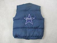 VINTAGE Triple Fat Goose Dallas Cowboys Vest Adult Large Blue NFL Football Men *