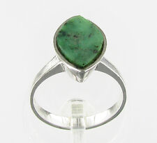 # Silberring mit Moosachat 925er Silber Ring Gr. 54/ 17,2 mm NEU