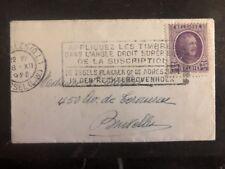 1928 Bruxelles Belgium Mini Cover Domestic Used # 151