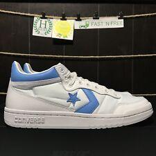 Converse Mid Fast Break x Air Jordan Alumni UNC White Baby Blue 156974C Size 8