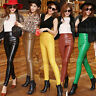 Winter Women High Waist Soft PU Faux Leather Gothic Trousers Punk Pants Leggings