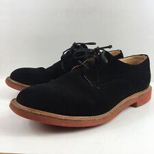 Mark Mcnairy New Amsterdam Black Suede lace up Derby shoe men size 12 England