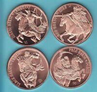Copper Round Coins  COMPLETE 12 COIN SET  Eagle USA ZODIAC  SET  1 oz