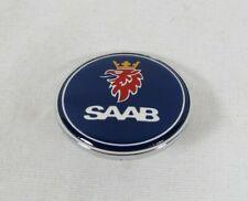 2pcs Set Carbon Black SAAB Front Bonnet Rear Boot Car Emblem Badge Sticker-one or tow
