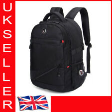 "Laptop Notebook Shoulder Bag Rucksack Backpack 14''~17"" Swiss Style Waterproof"