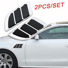 Chrome Car Accessories Door Fender Side Simulation Air Vent Outtake Sticker Trim