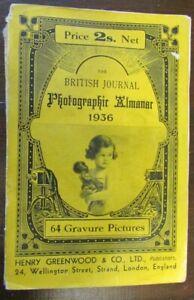 The British Journal Photographic Almanac 1936 - 64 Gravure Pictures