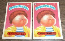 1985 Garbage Pail Kids - Shrunked Ed 65a & 65b