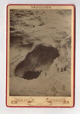 PHOTO ANCIENNE CABINET Gouffre Vaucluse Isard et Fils Carpentras Vers 1900