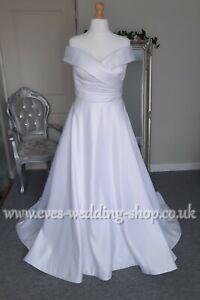 Pure bridal off the shoulder white wedding dress UK 14 - check measurements