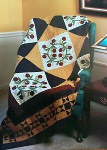 Colonial Cherry Wreaths Quilt Pattern - Piecing & Applique!