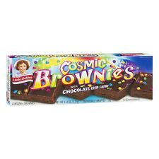 NEW LITTLE DEBBIE COSMIC BROWNIES + CHOCOLATE CHIP CANDY 13.1 OZ 6 BROWNIES SNAC