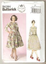 Butterick Sewing Pattern B6284 Miss Retro 50's Styled Dress By Gertie Sz 14-22