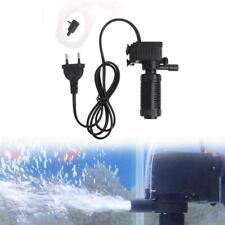 Mini 3 in 1 Aquarium Internal Filter Fish Tank Oxygen Submersible Pump Spray EU