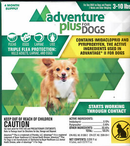 Adventure Plus for Small Dogs 3-10 lbs 4 month supply