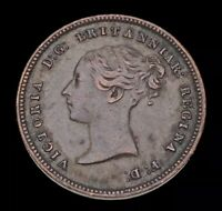 1844 Great Britain Queen Victoria 1/2 Farthing