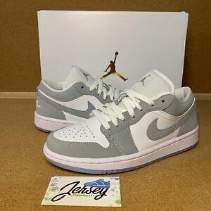 Women's Nike Air Jordan 1 Low Aluminum Size 7 & 8 Wolf Grey DC0774-105