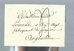 France  1828 - Tours - Early Stampless Cover