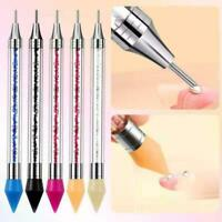 Dual-ended Dotting Pen Nail Art Rhinestone Picker Wax Pencil Handle Bead Q0T7