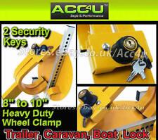 "Caravan Trailer High Security Anti Theft Heavy Duty 8"" - 10"" inch SW Wheel Clamp"