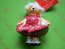 Christopher Radko Beauty Muffy Swan Lake Glass Ornament