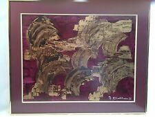 GAILLARD, Max FRENCH EXPO ARTIST PAINTING ABSTRACT SIGNED & DATED MCM