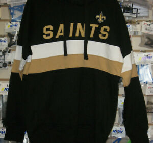 NFL NEW ORLEANS SAINTS G-III HANDS HIGH PULLOVER HOODIE L LG LARGE NEW NWT