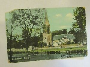 St Andrews, Thorpe. Christian Novels. May 1908 Old Postcard.