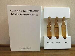 SUSANNE KAUFMANN Pollution Skin Defence System 3 x 2ml (0.06 fl oz) BNIB Fresh