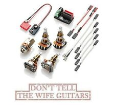 EMG Solderless Conversion Wiring Kit For 1 - 2 Active Pickups LONG SHAFT Pots