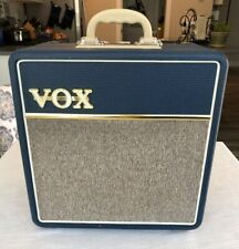 Vox AC4C1-BL Limited Edition Blue 4 Watt Tube Amplifier 1X10 W/ Ramrod Upgrade