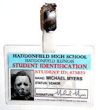 Halloween Michael Myers Student ID Badge Horror Cosplay Costume Prop Comic Con