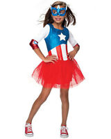 Classic Captain America Girls Costume