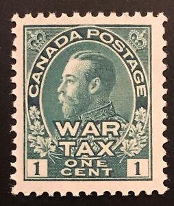 Canada #MR1, VF, MNH OG War Tax Issue, Nicely Centered