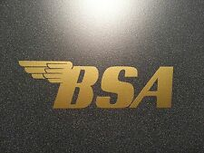 BSA DECAL GOLD ** MOTORCYCLE ** HARLEY * DUCATI * TRIUMPH * NORTON ** INDIAN
