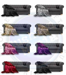 Throw over bedspread Marble Crushed Velvet New Sofa or bed Lined Throw,Cushions