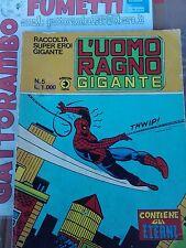 Raccolta super eroi gigante n.5 L'Uomo Ragno anno 81 - Ed.Corno buono++
