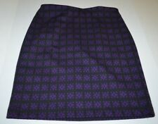 Adrienne Vittadini Skirt 12P 12 Petite Pencil Black Purple