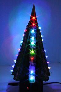RED, GREEN, BLUE, YELLOW Random Flashing LED Table Top Christmas Tree