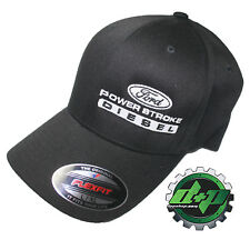 Ford Powerstroke hat ball cap fitted flex fit  flexfit stretch Black L/XL