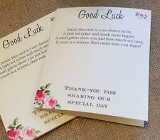 10 Vintage/Rustic 'Charlotte' Favour Lottery/Scratchcard Ticket Holders