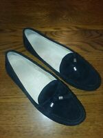 GHBass Baylee Womens Sz 7.5M Black Suede Driving Moccassins Tassel Loafer Shoes