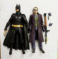 "LOT 2 DC Comics Arkham City The Dark Knight Batman THE JOKER  action FIGURE  6"""