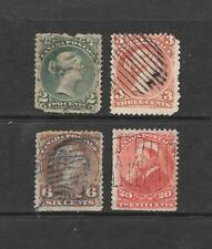 1868 Queen Victoria SG57 - SG49 - SG59b - SG115 Old Rarieties Used CANADA